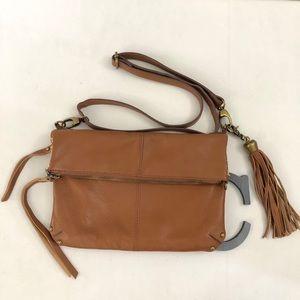 LUCKY BRAND British Tan Crossbody Shoulder Bag